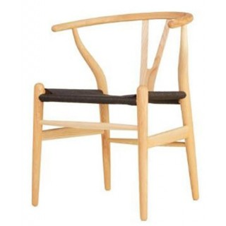 Silla Wishbone Natural Black